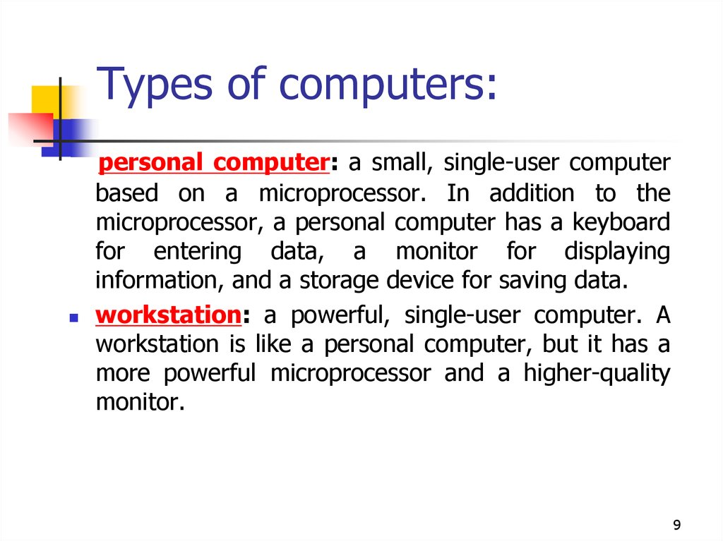 Introduction to computer systems  Architecture of a computer