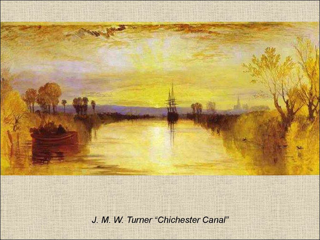 "J. M. W. Turner ""Chichester Canal"""