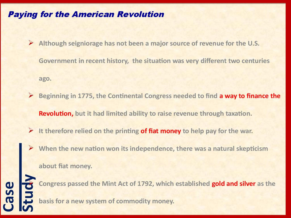 Paying for the American Revolution