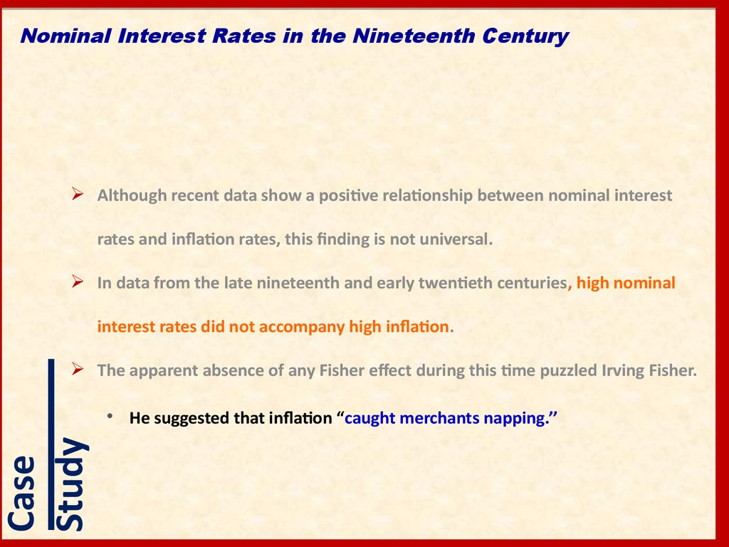 Nominal Interest Rates in the Nineteenth Century