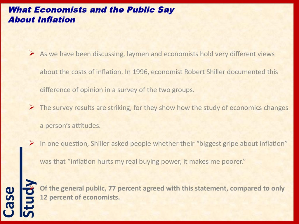 What Economists and the Public Say About Inflation