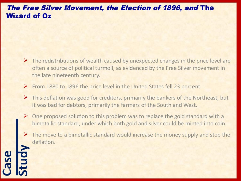 The Free Silver Movement, the Election of 1896, and The Wizard of Oz