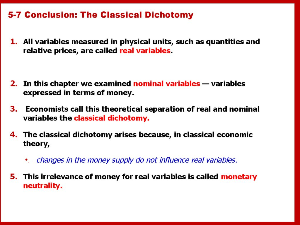 5-7 Conclusion: The Classical Dichotomy
