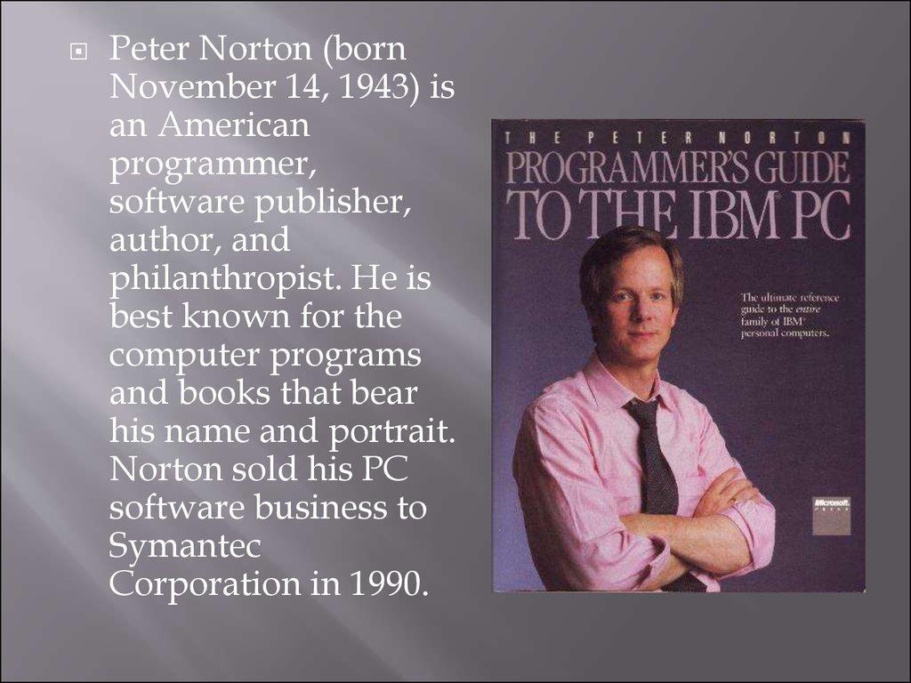 peter norton online presentation rh en ppt online org Norton Commander Norton Commander