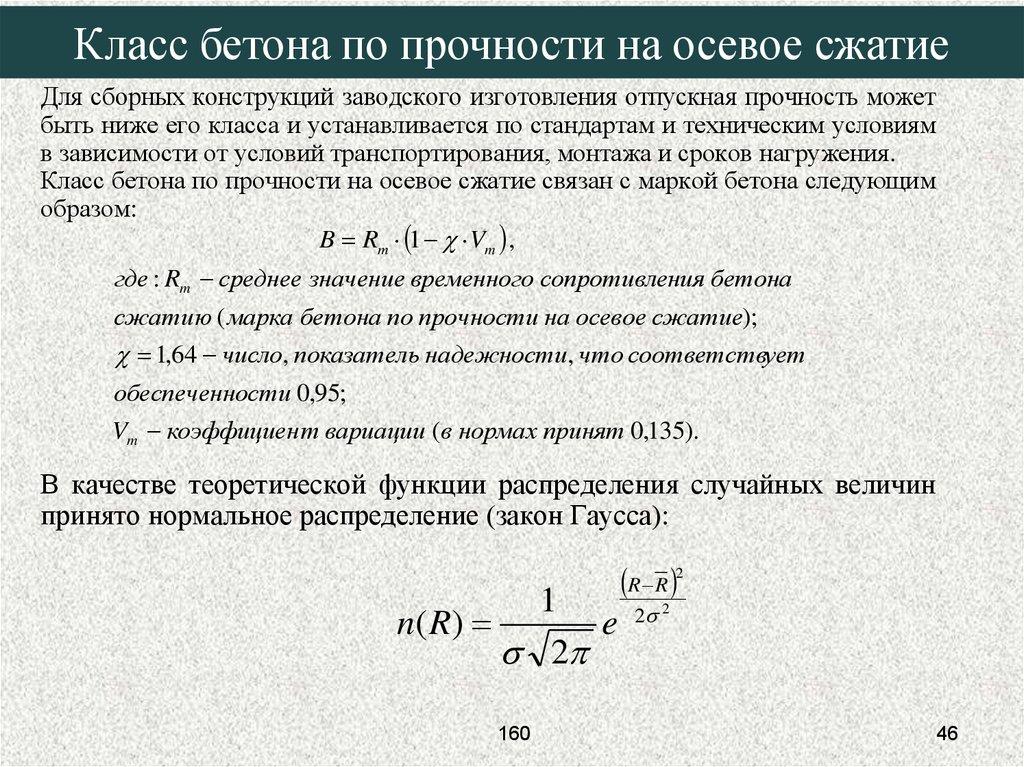Условие прочности бетона элементы бетона