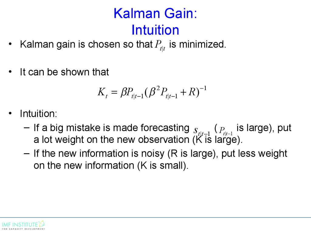 Kalman Gain: Intuition