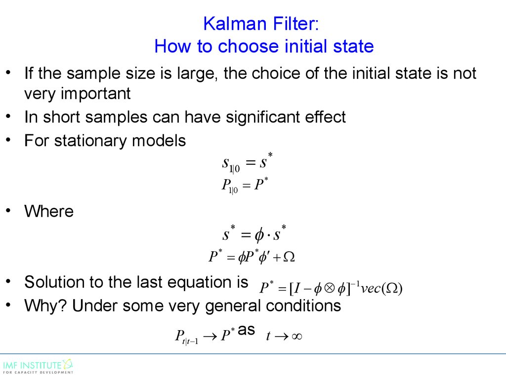 Kalman Filter: How to choose initial state