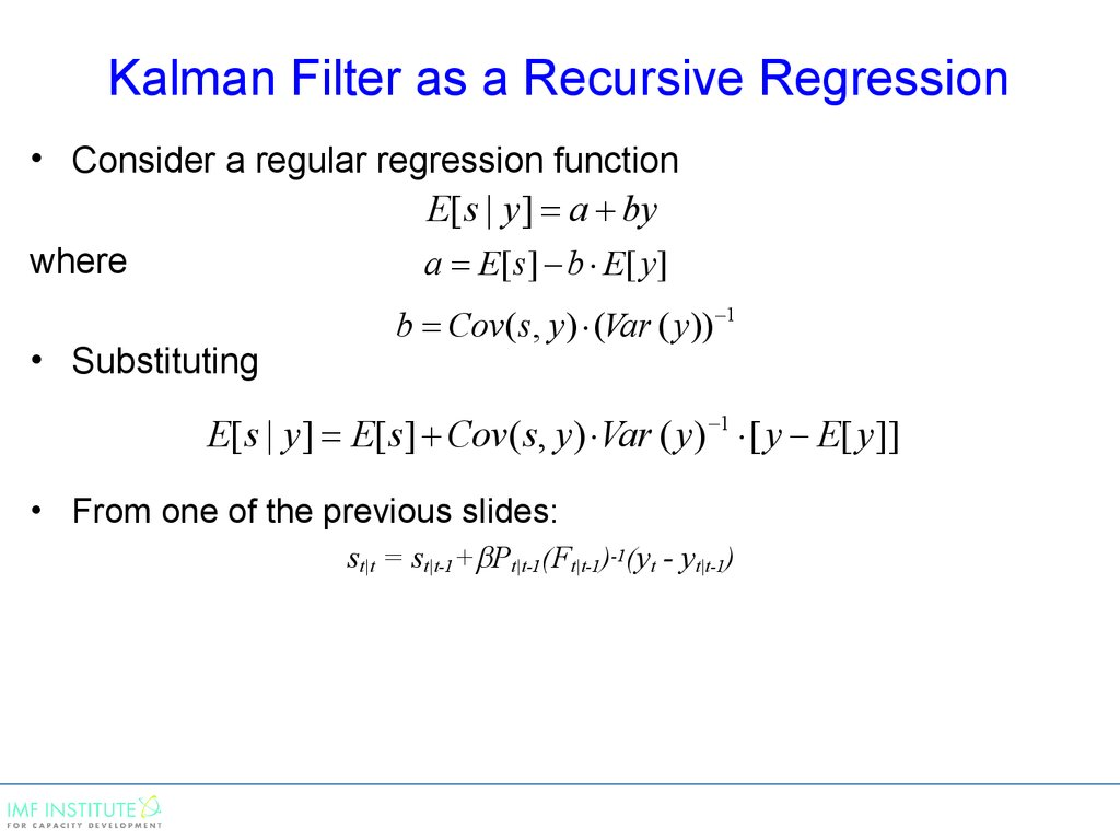 Kalman Filter as a Recursive Regression