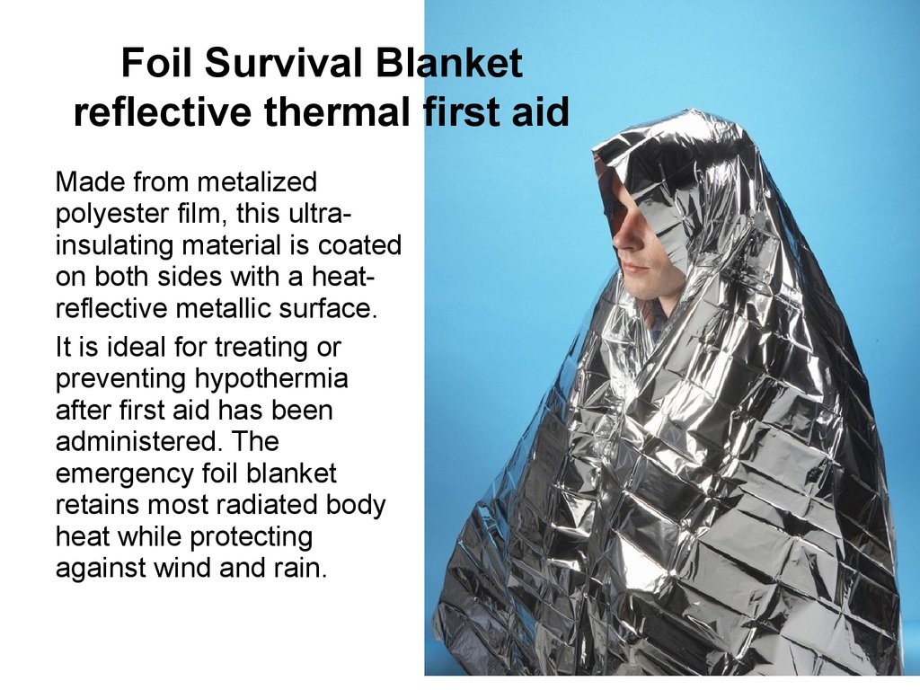 Foil Survival Blanket reflective thermal first aid