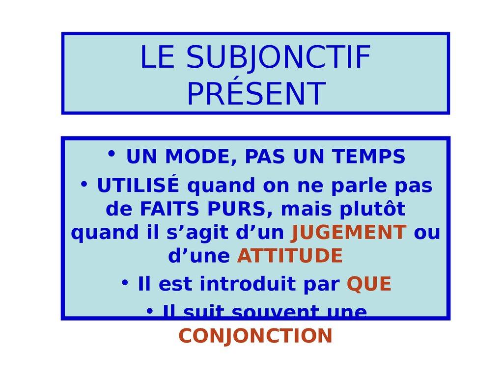 Le Subjonctif Present Francuzkij Yazyk Online Presentation