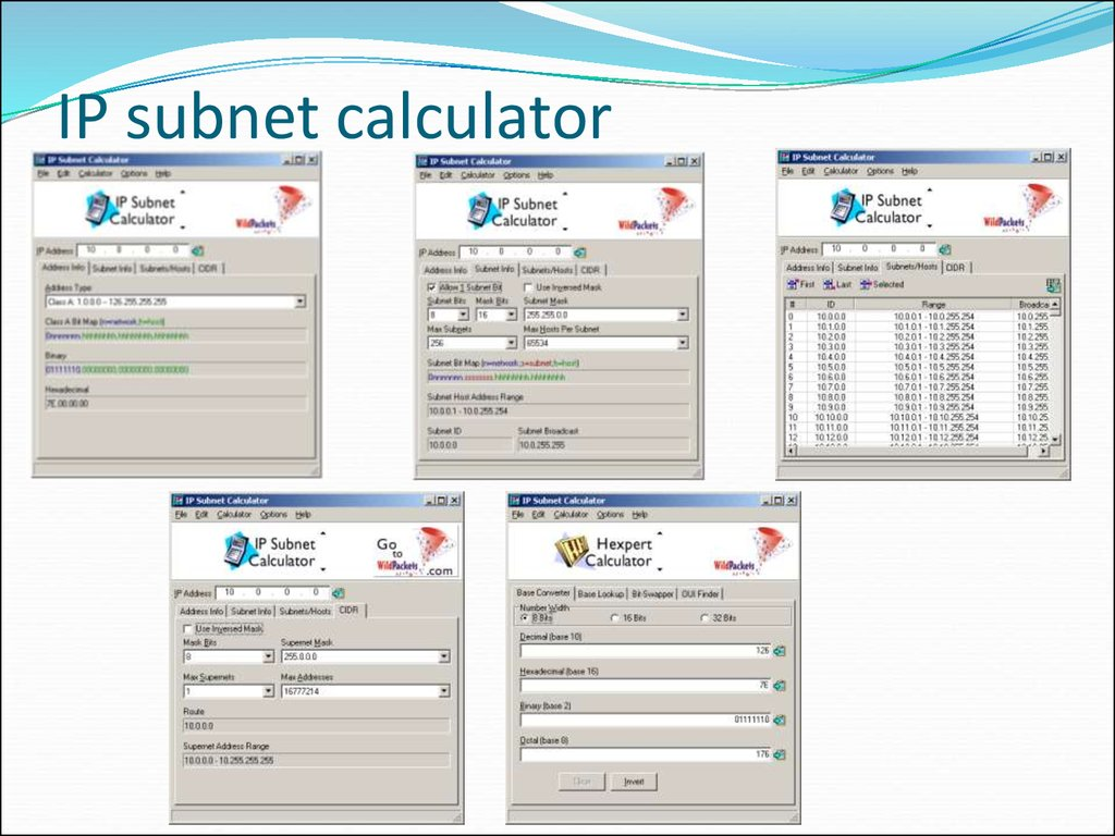 IP subnet calculator