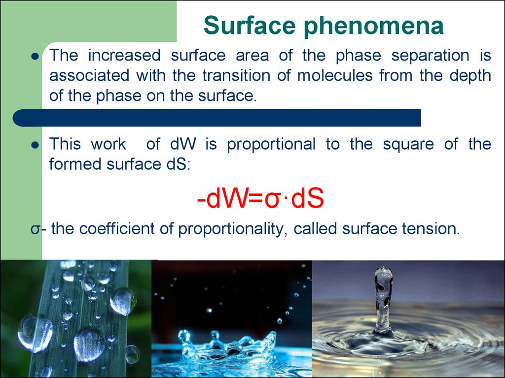 Surface phenomena
