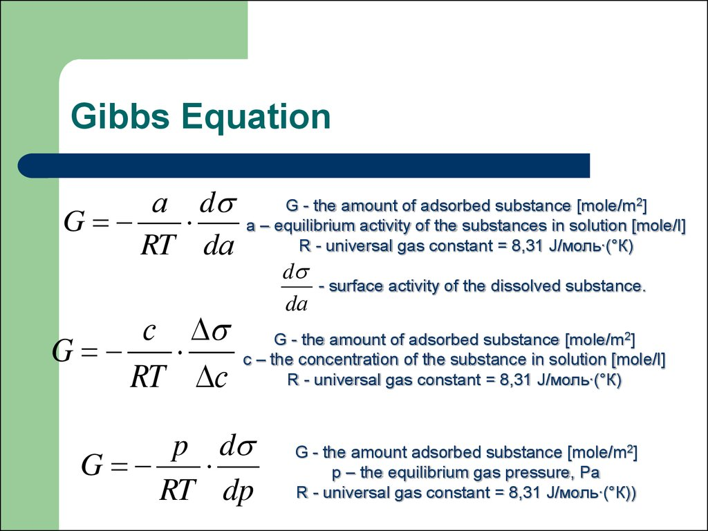Gibbs Equation