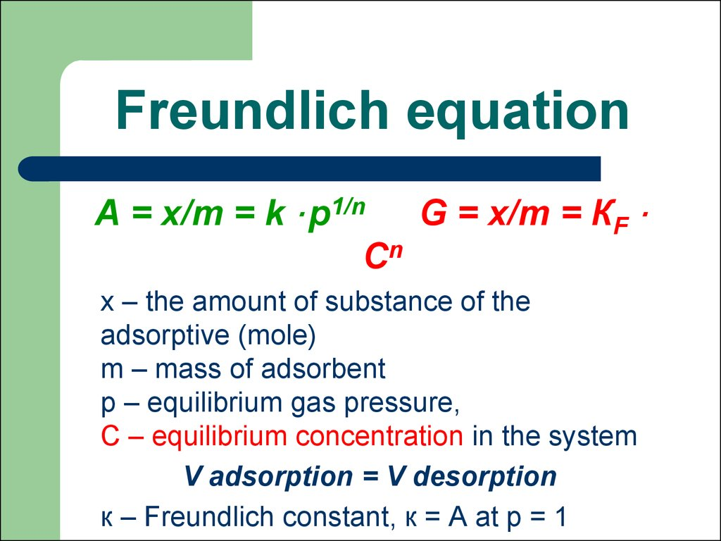 Freundlich equation