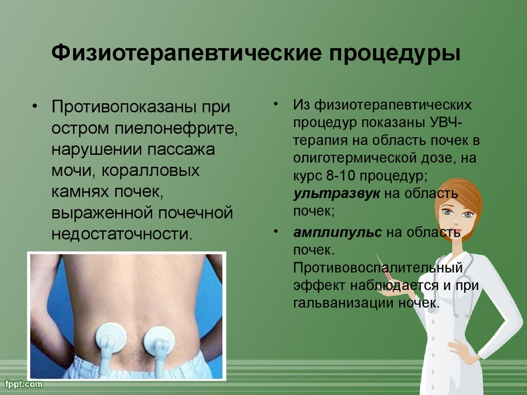 Последовательность физиопроцедур