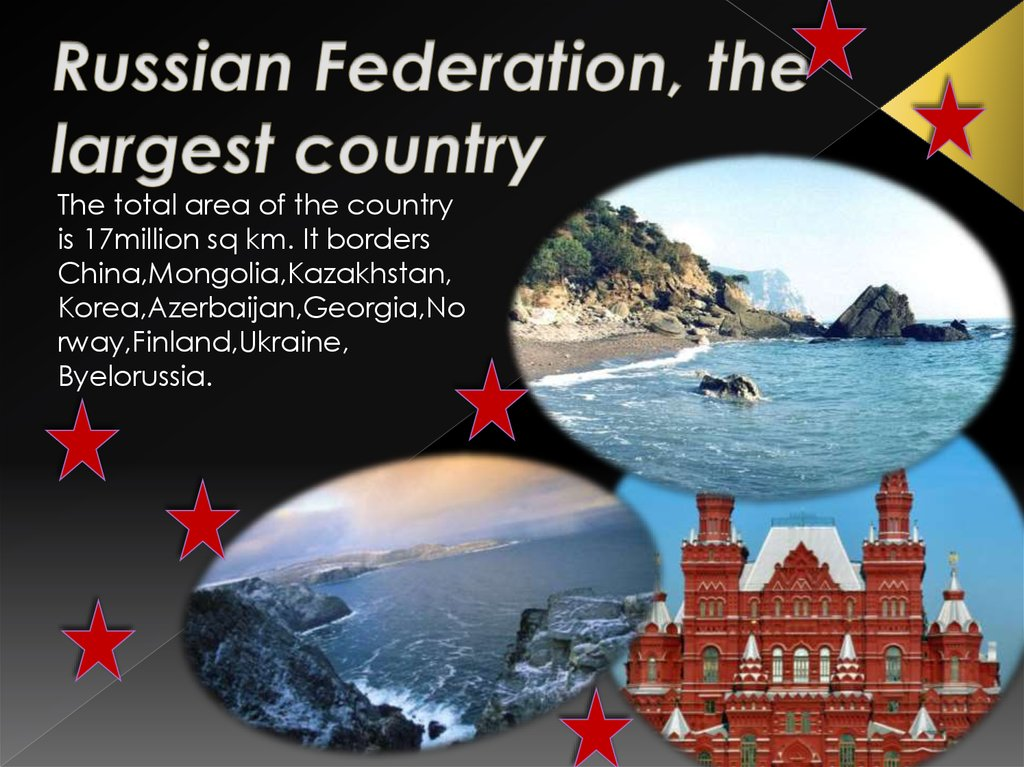 Russian Federation, the largest country