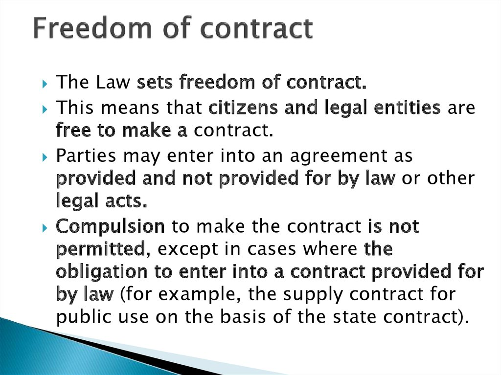 Freedom of contract