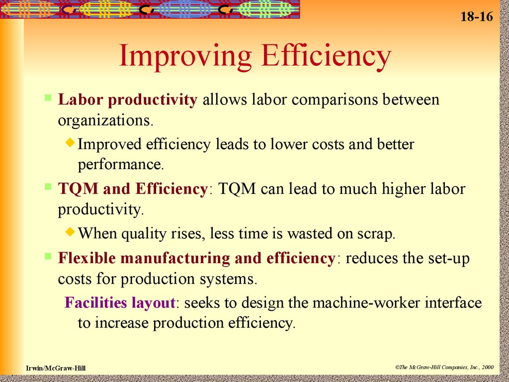 How to improve the efficiency of the enterprise
