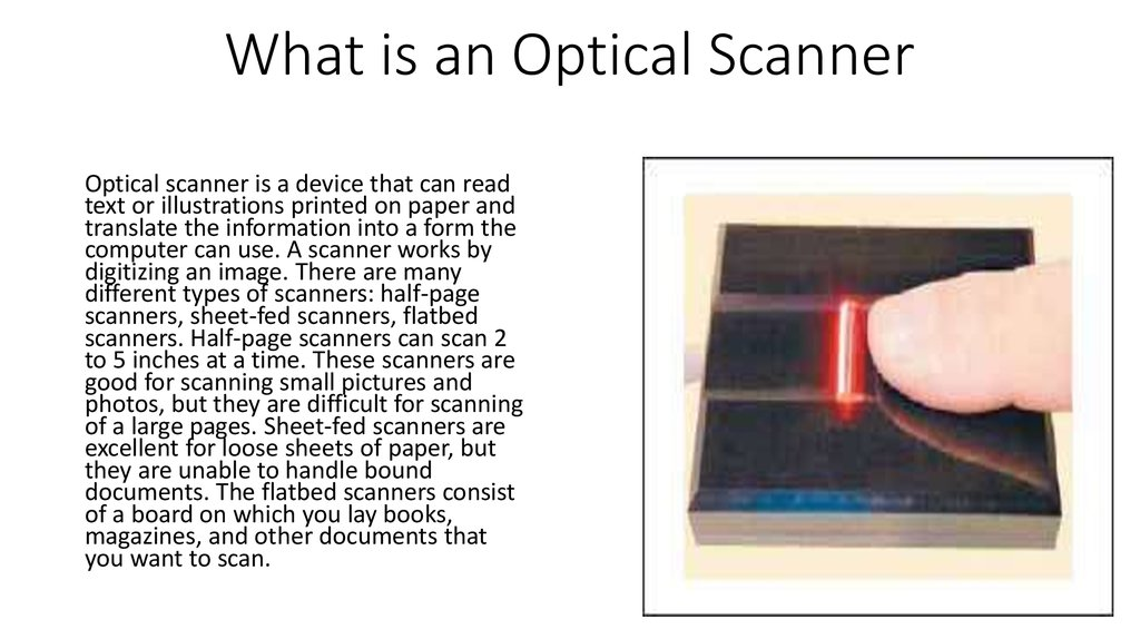 What is an Optical Scanner