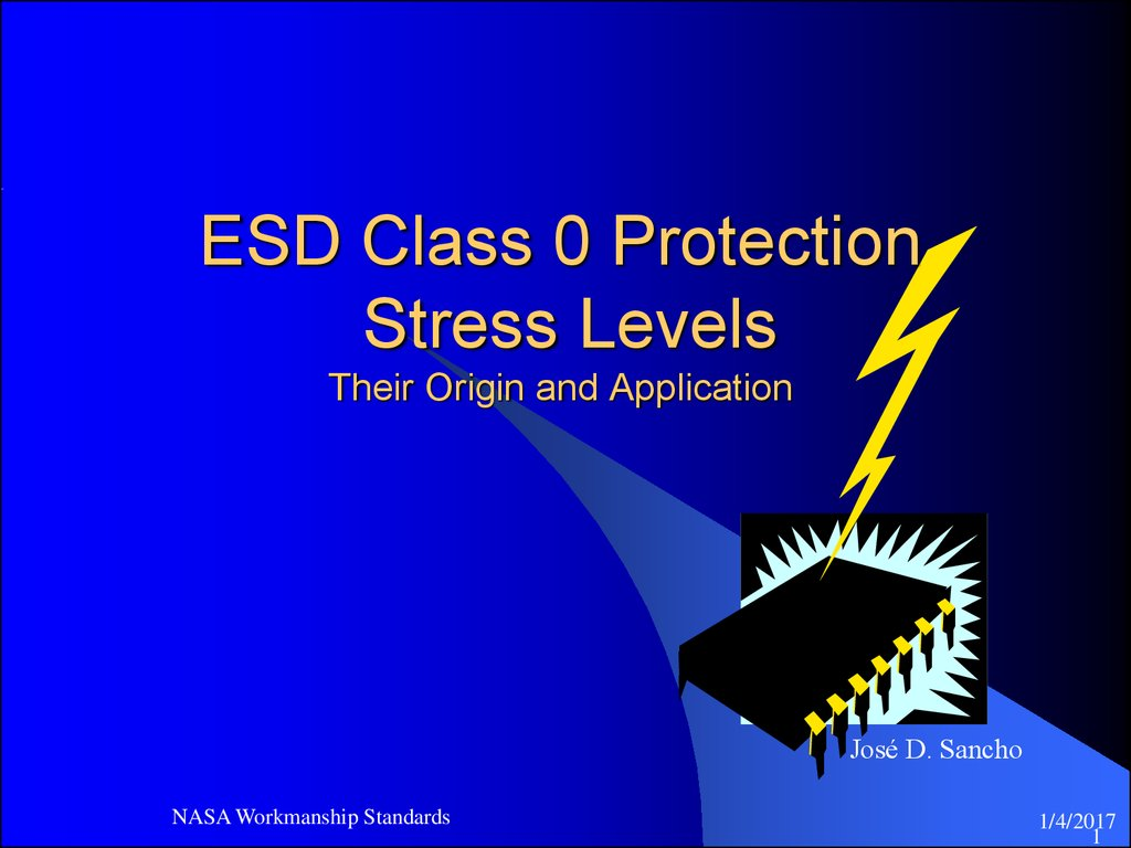 ESD Class 0 Protection Stress Levels Their Origin and Application