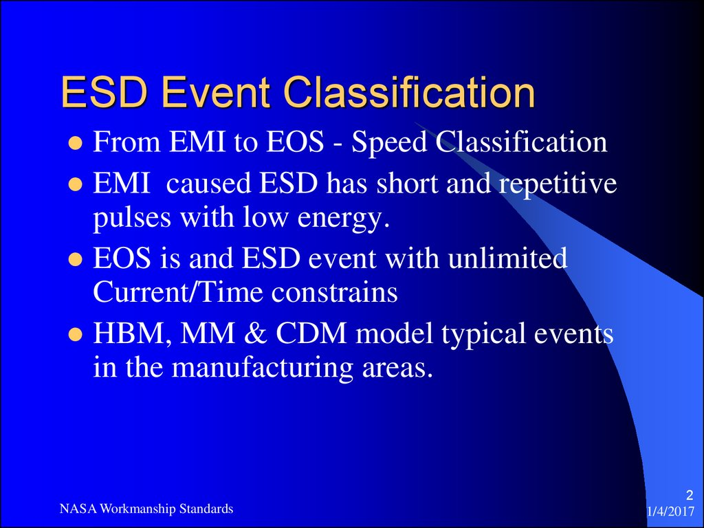 ESD Event Classification