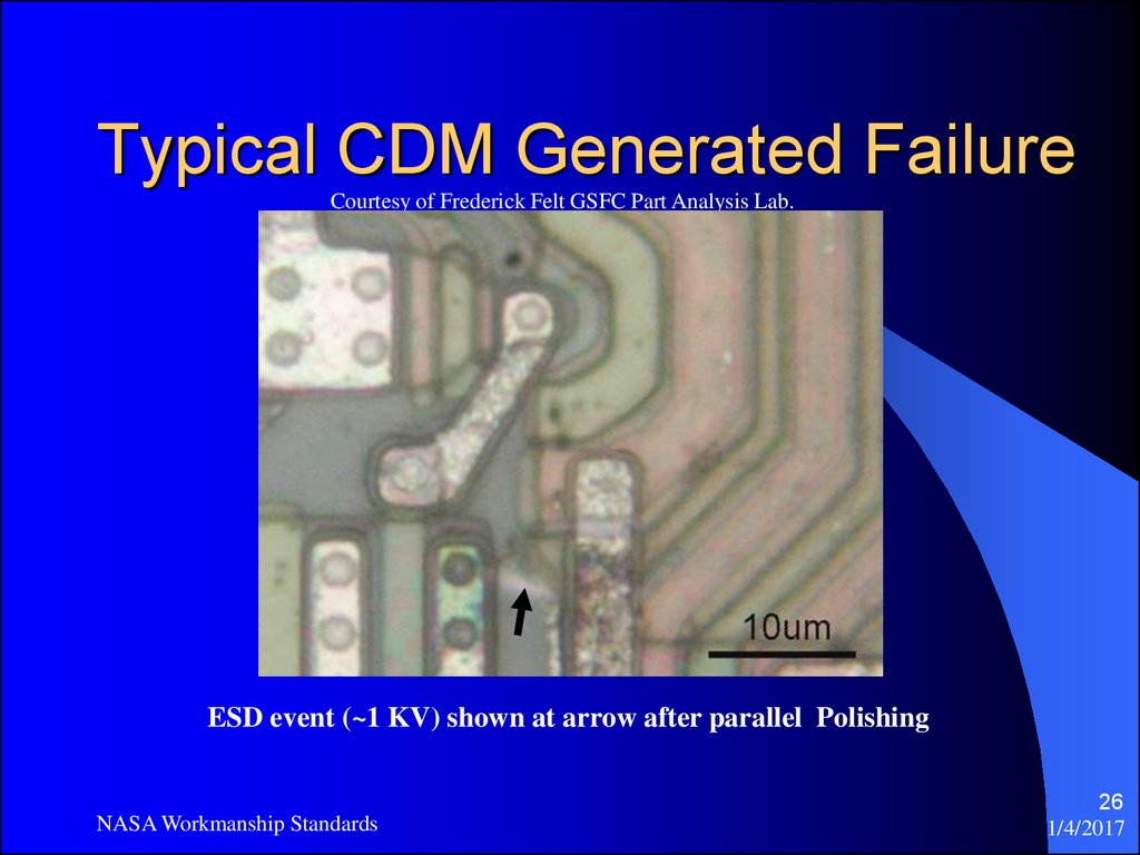 Typical CDM Generated Failure