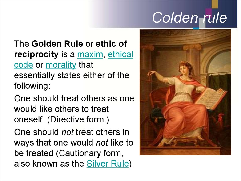 Colden rule
