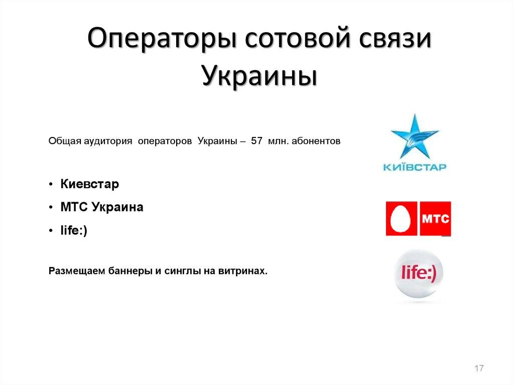 Все операторы в украине
