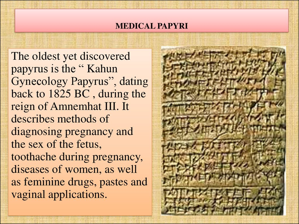 MEDICAL PAPYRI