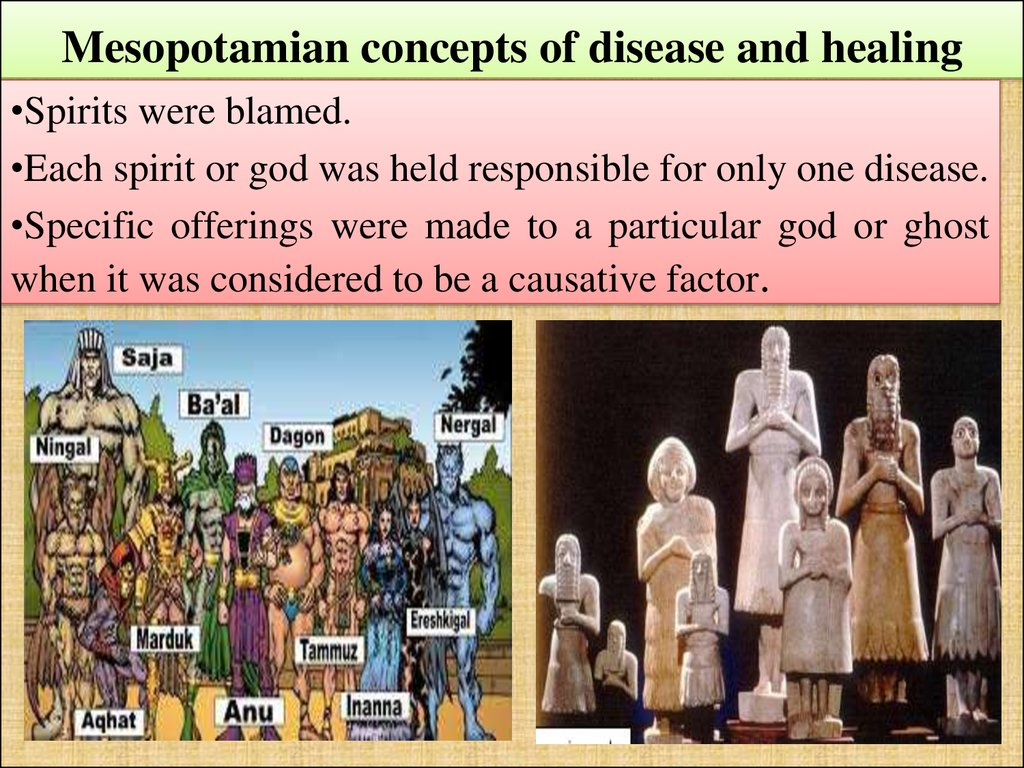 Mesopotamian concepts of disease and healing