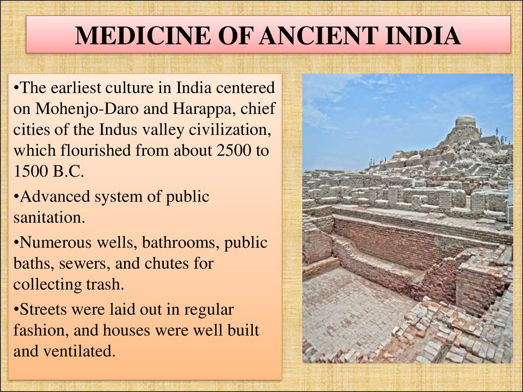 MEDICINE OF ANCIENT INDIA