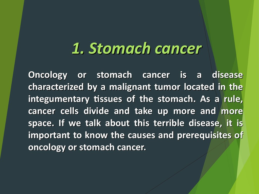 1. Stomach cancer