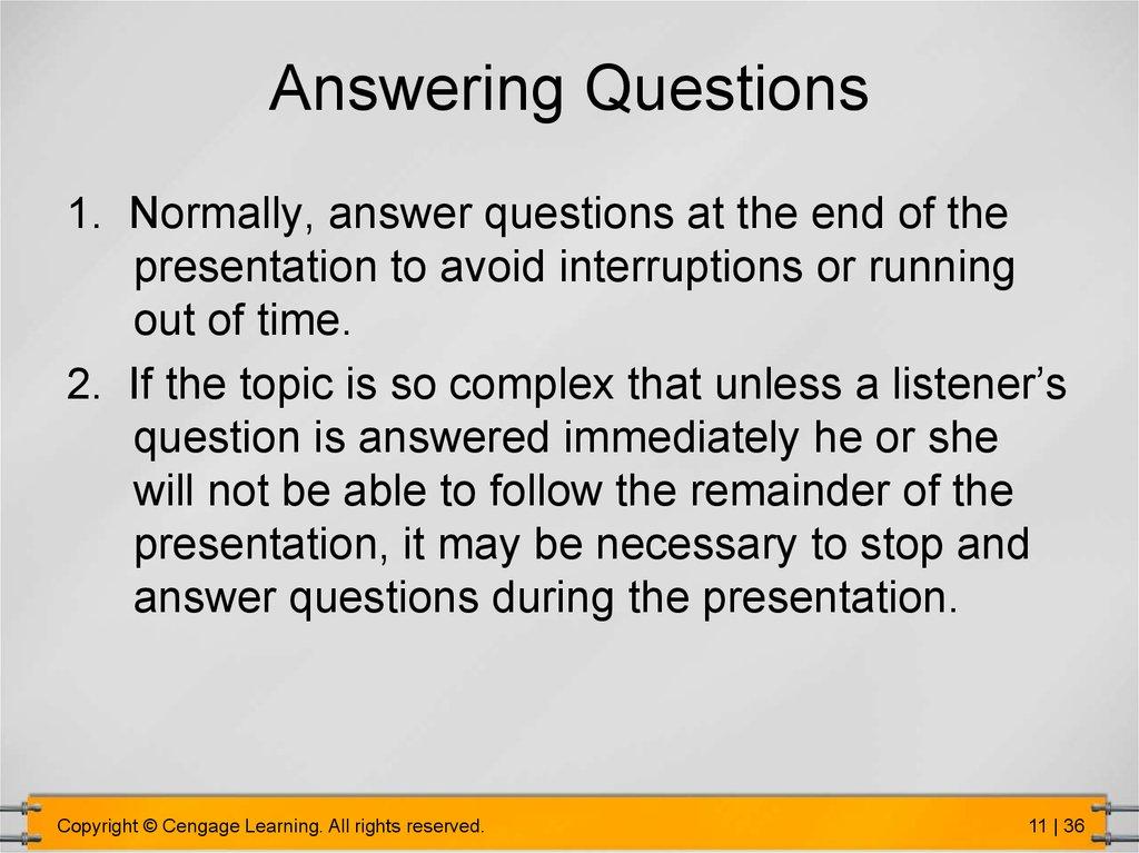 Make oral presentations - online presentation