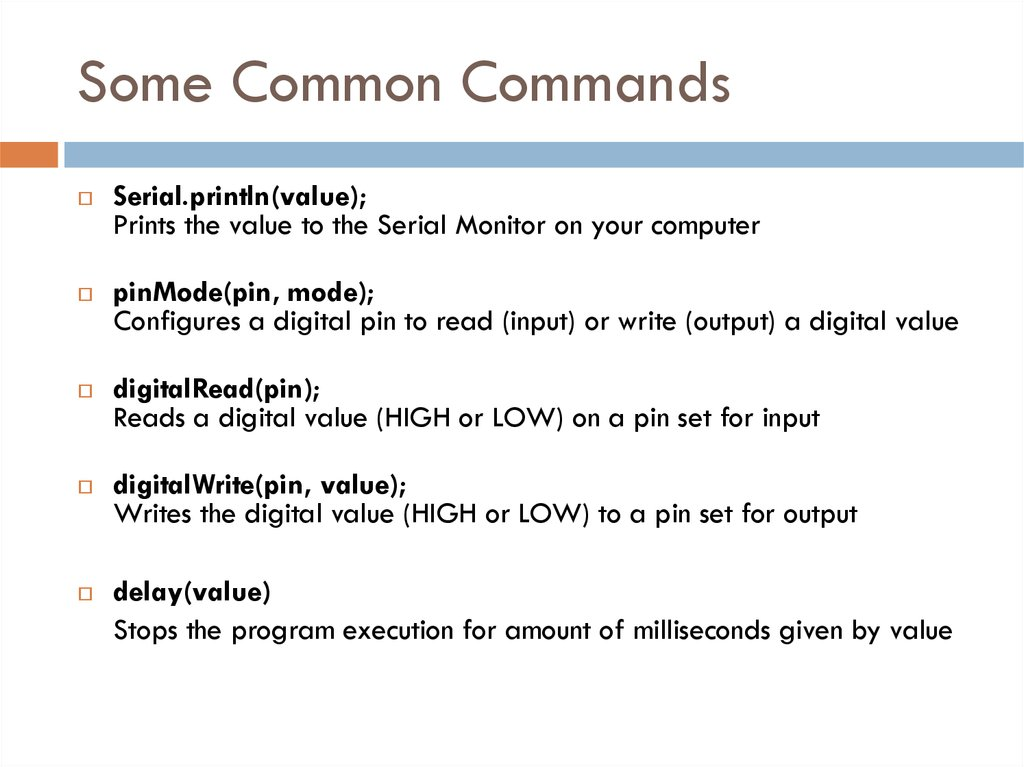 Some Common Commands