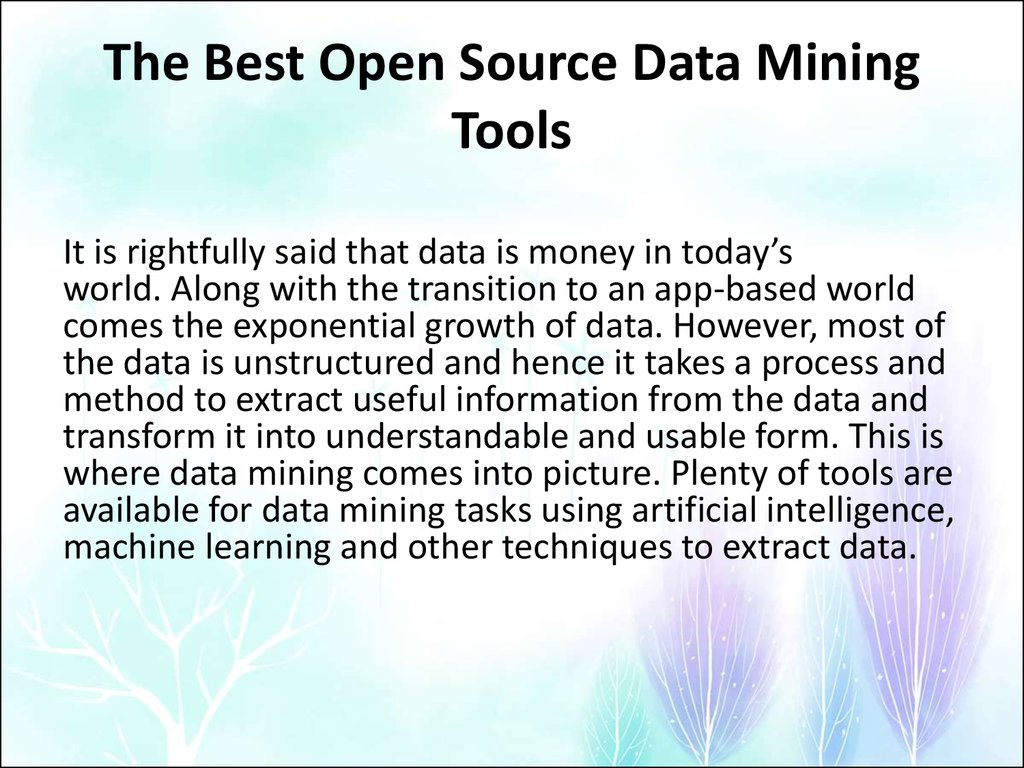 The Best Open Source Data Mining Tools