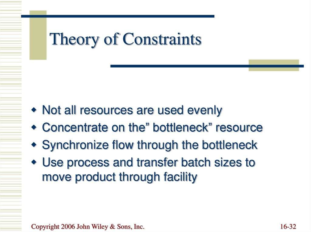 essay on theory of constraints Study 1: constraints on the balancing of stakeholder interests resource divisibility the centrality of balancing stakeholder interests in stakeholder theory is a.