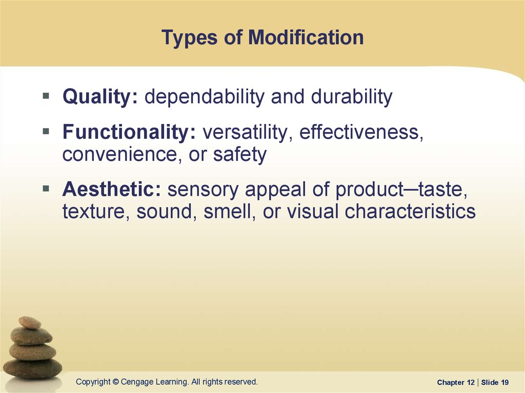 Types of Modification