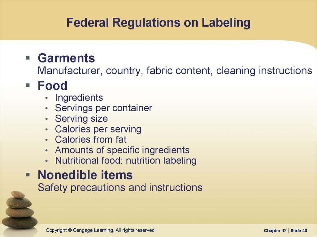Federal Regulations on Labeling