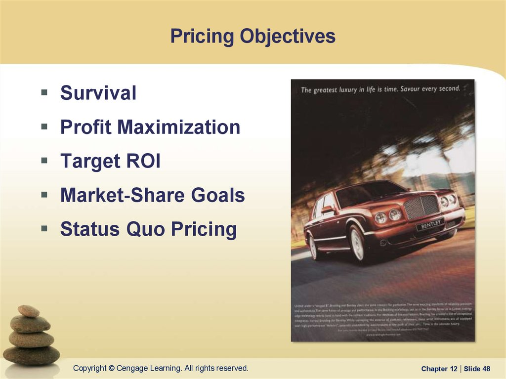 marketing pricing objectives Home » marketing » pricing objectives for information on some common pricing techniques and when you'd use them, see our article about setting prices.
