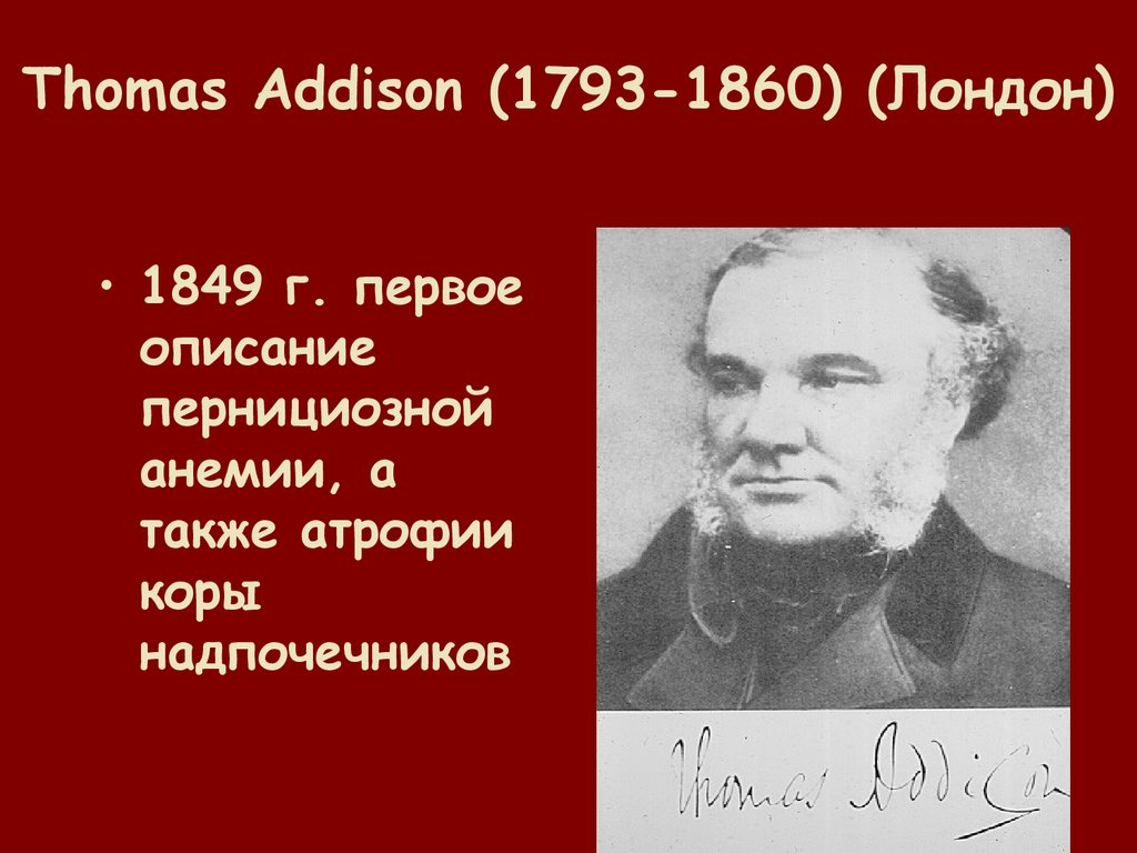 Thomas Addison (1793-1860) (Лондон)