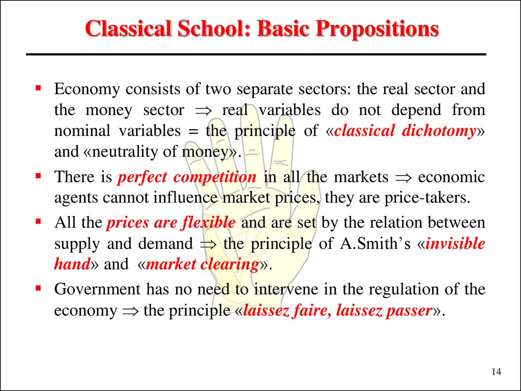 Classical School: Basic Propositions