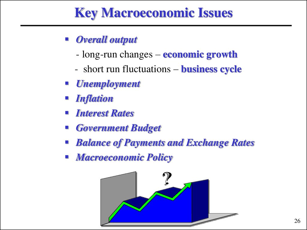 Key Macroeconomic Issues