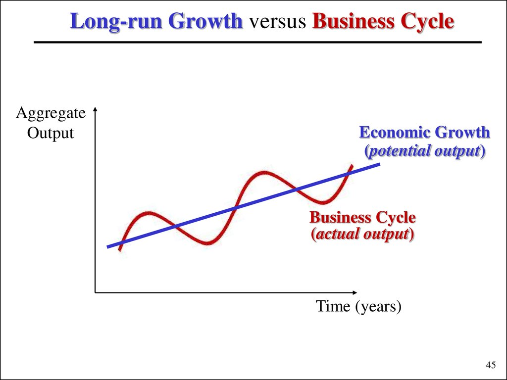 Long-run Growth versus Business Cycle