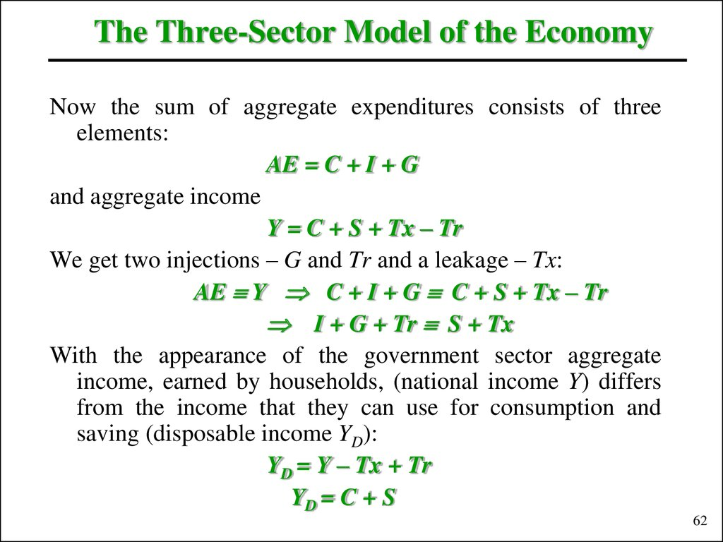 The Three-Sector Model of the Economy