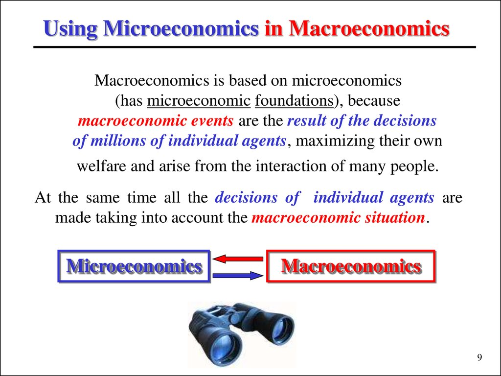 Using Microeconomics in Macroeconomics