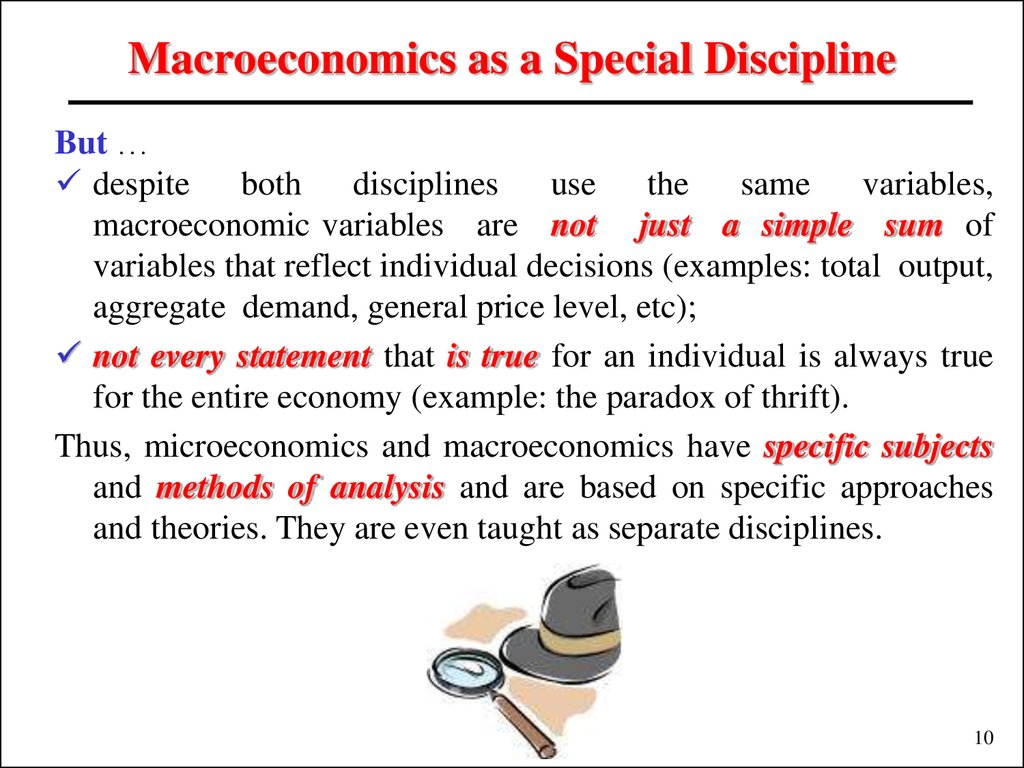 Macroeconomics as a Special Discipline