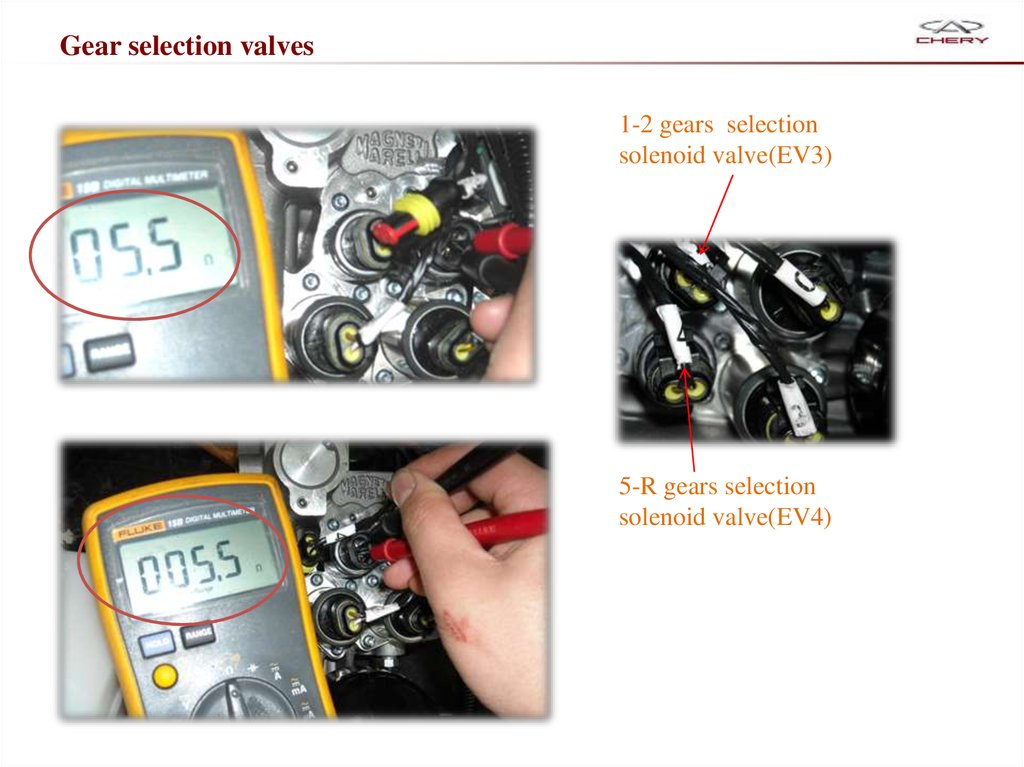 Gear selection valves