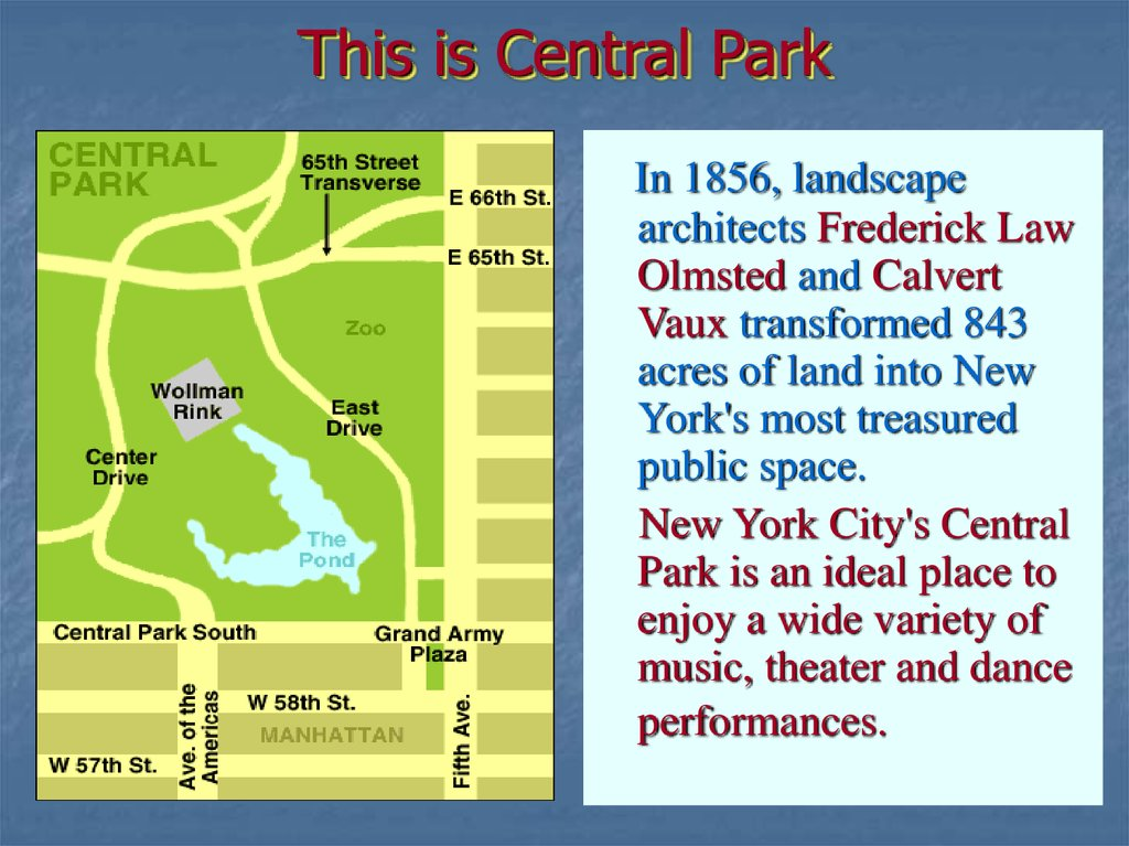 This is Central Park