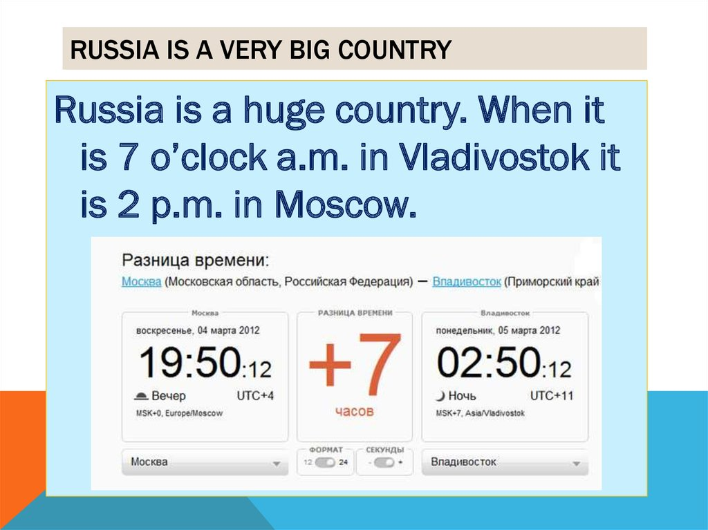 Russia is a very big country