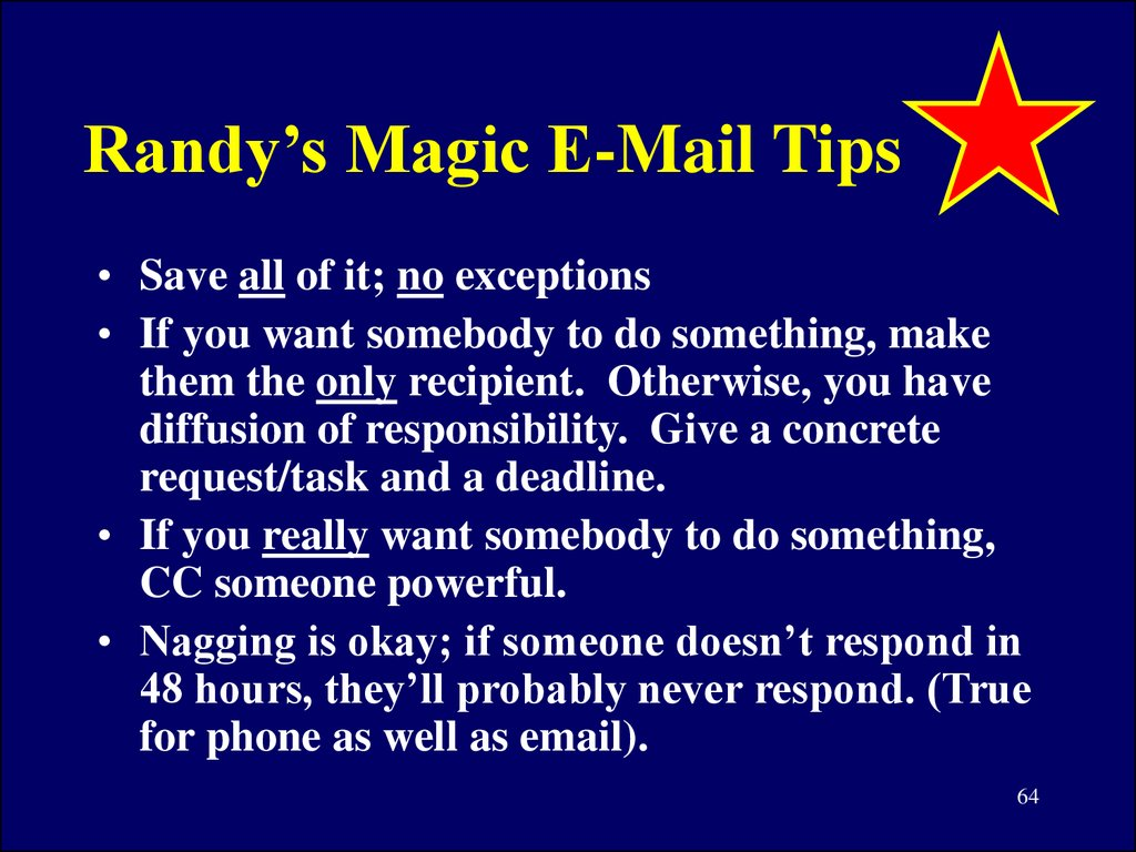 Randy's Magic E-Mail Tips